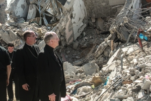 Bishops view devastation in Gaza.