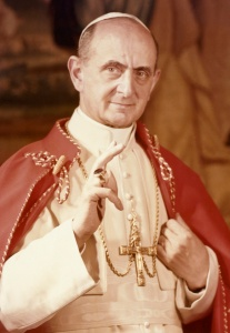 Pope Paul VI pictured in undated portrait