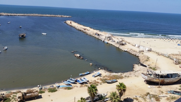 View from the beach in Gaza
