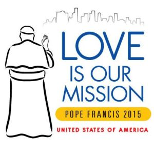 Logo: Love is our mission, Pope Francis 2015