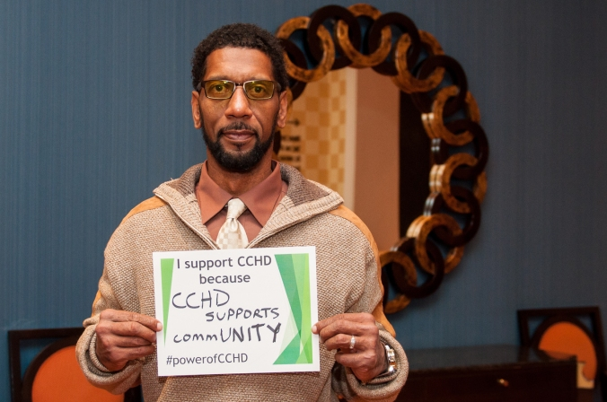 "[name] of the Baltimore-based No Boundaries Coalition: ""I support CCHD because CCHD supports commUNITY"""