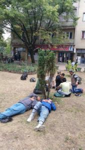 Some 2,000 refugees and economic migrants are entering Serbia daily en route to the European Union. Serbia's public spaces, like this park in the border town of Kanjiza, have become temporary homes to those in transit.