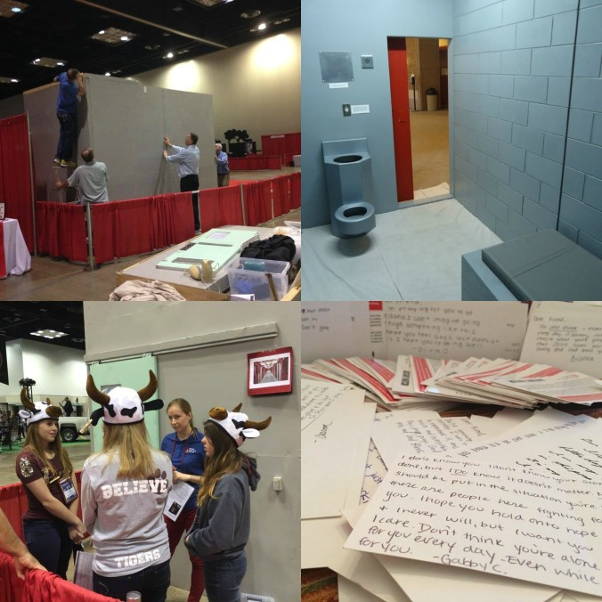 Catholic Mobilizing Network partnered with NRCAT this past November to bring a replica solitary cell to NCYC 2015. After experiencing and learning about the cell, students wrote letters of support to people currently in solitary.