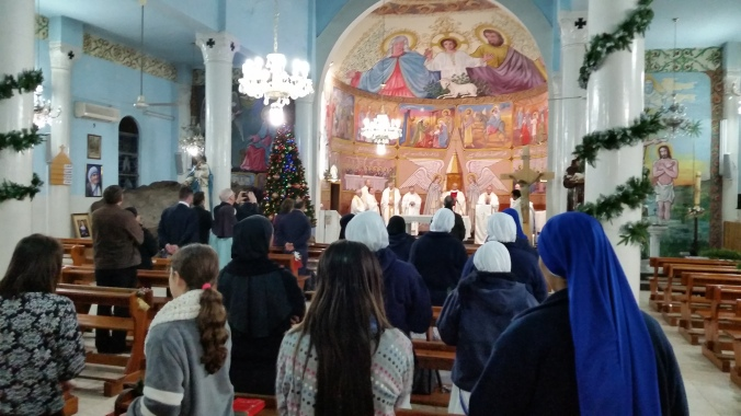 Mass at Holy Family Church in Gaza