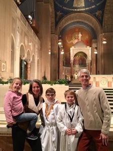 family at basilica