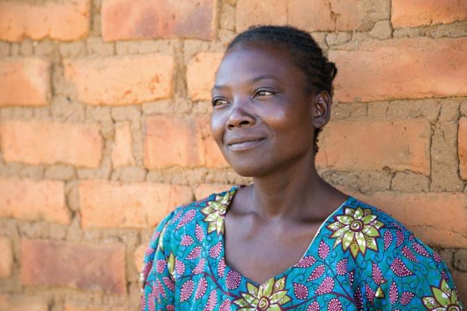 Evelina Banda, 35 years old, Petauke District, eastern Zambia. Photo by Nancy McNally/Catholic Relief Services